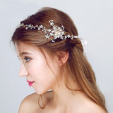 ANGELINA | Beautiful Pearl & Crystal Headband