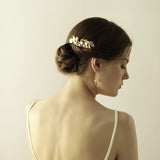 APHRODITE | Gold Leaf Comb - The Luxe Bride Co