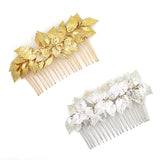 APHRODITE | Gold & Silver Leaf Combs - The Luxe Bride Co