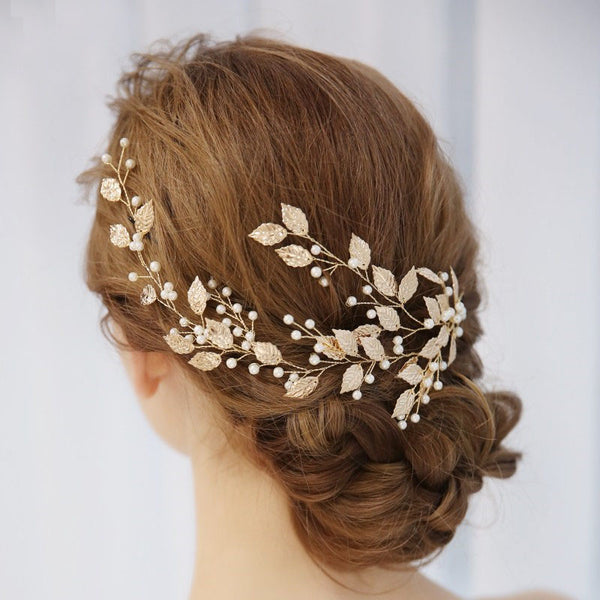 BOHEME | Gold Leaf Statement Headpiece - The Luxe Bride Co