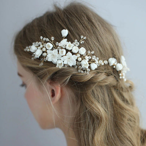 CATALINA | Floral Handmade Headpiece & Hair Pins