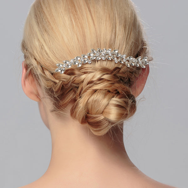 CHANEL | Crystal Bridal Comb in Silver- The Luxe Bride Co