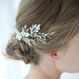 CHARLOTTE | Ivory Porcelain Floral Headpiece - The Luxe Bride Co