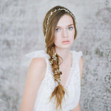 CLAIRE | Freshwater Pearl & Crystal Hair Vine- The Luxe Bride Co