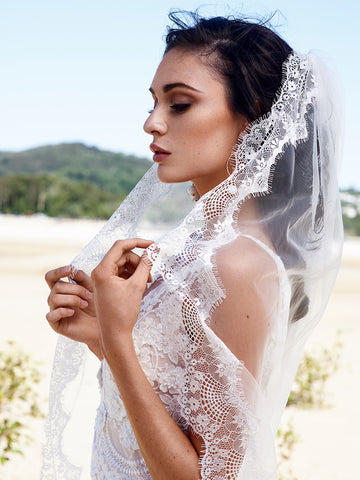 COCO | Chantilly Eyelash Lace Veil