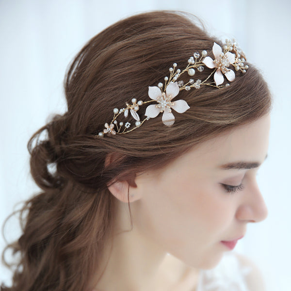 DELILAH | Gold & Pastel Bridal Headband