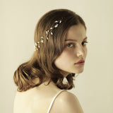 EMILY | Crystal & Pearl Headband - The Luxe Bride Co