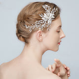Etta Dazzling Crystal Headpiece in Silver- The Luxe Bride Co