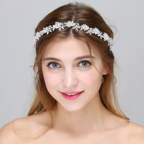 EVERLEY | Crystal Leaf Headband