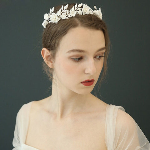 HARPER | Floral and Silver Tiara