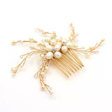 HOLLY | Freshwater Pearl Bridal Comb - The Luxe Bride Co