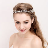 Laura Headband in Gold with Crystals - The Luxe Bride Co