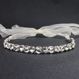 LAURINA | Bridal Headband With Austrian Crystals in Silver - The Luxe Bride Co