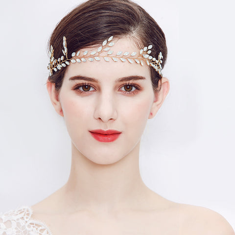MADELINE | Austrian Opal Crystal Headband - The Luxe Bride Co