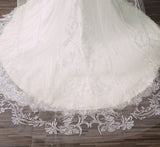 PALOMA |Veil With Blusher & Fine Butterfly Embroidery - The Luxe Bride Co