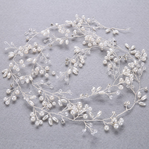 RAPUNZEL | 1 Metre Crystal & Pearl Hair Vine- The Luxe Bride Co