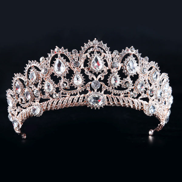 REGAL | Rose Gold & Crystal Tiara