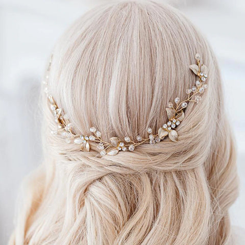 SAMARA | Light Gold Luxury Headpiece