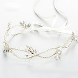 SARAH | Crystal Headband in Silver - The Luxe Bride Co