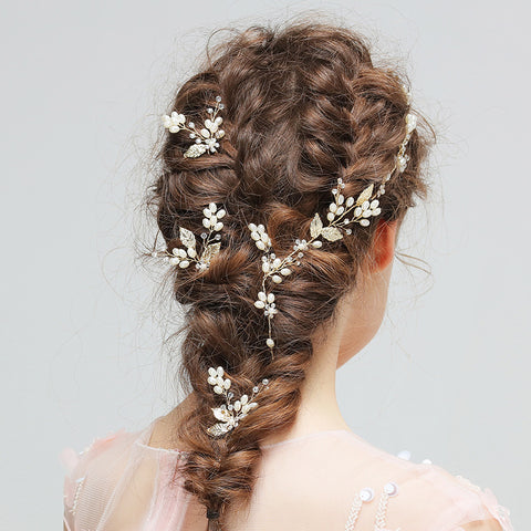 CIANNA | Gold Leaf Hair Vine or Hair Pins