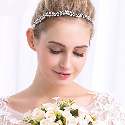 SIENNA | Wedding Headband with Austrian Crystals - The Luxe Bride Co