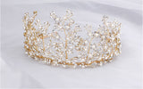 STEFANA | Crystal Statement Tiara in Gold - The Luxe Bride Co