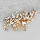 WILLOW | Gold Leaf Comb - The Luxe Bride Co