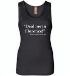 Deal me in florence the first nursing student in 1860 - Womens Jersey Tank