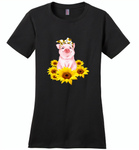 Sunflower pig - Distric Made Ladies Perfect Weigh Tee