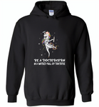 Be a doctorcorn in a world full of doctors unicorn funny - Gildan Heavy Blend Hoodie