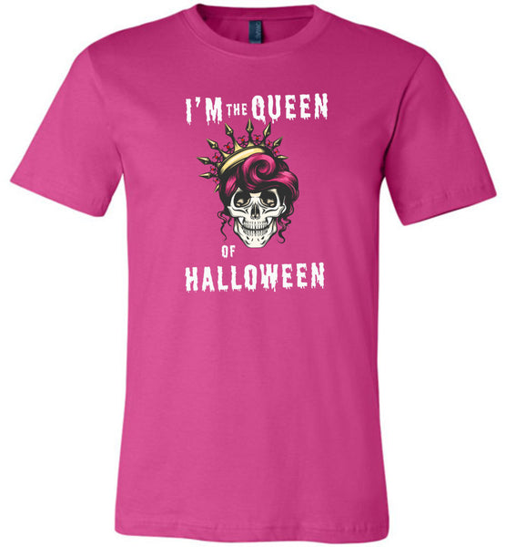 I'm the Queen of Halloween skull t shirt gift