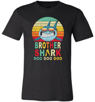 Retro Vintage Brother Shark doo doo doo T-shirt, tee gift for brother