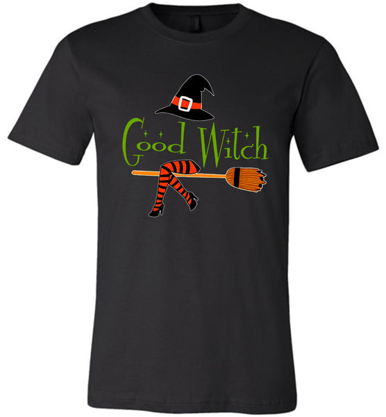 Good witch hat broom halloween costume t shirt gift