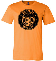 Basic witch funny halloween t shirt for women