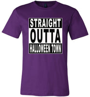 Straight outta halloween town t shirt gift