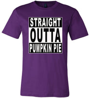 Straight outta Pumpkin pie halloween t shirt gift