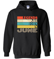 Legends are born in June vintage T-shirt, birthday's gift tee