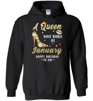 A Queen was born in January T shirt, birthday's gift shirt