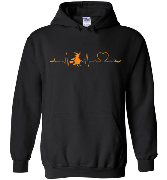 Love heartbeat witch bat halloween t shirt gift