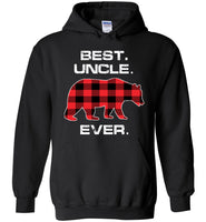 Red Plaid Best Uncle Ever Bear Fathers Day Gift Funny T-shirt