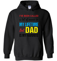 A lot of names in mylife but dad is my favorite shirt, father's day gift tee