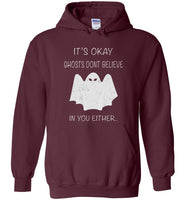 Ghosts don't believe in you either halloween t shirt