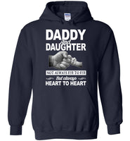 Daddy and daughter not always eye to eye but always heart to heart T-shirt, father's day gift tee