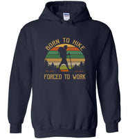 Born to hike forced to work vintage camping T shirt for men