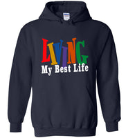 Vintage colorful Living my best life T shirt