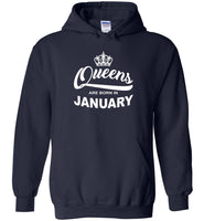 Queens are born in January, birthday gift T shirt