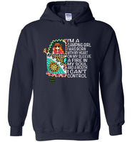 I am a camping girl I was born with my heart on my sleeve hippie T-shirt