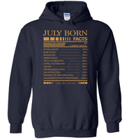 July born facts servings per container, born in July, birthday gift T-shirt