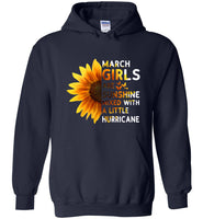 Sunflower March girls are sunshine mixed with a little Hurricane T-shirt
