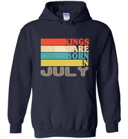 Kings are born in July vintage T-shirt, birthday's gift tee for men